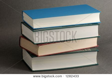 Stack Of Books Isolated On Black