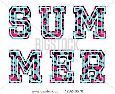 Vector Illustration of Vintage T-short Print. Summer on beach