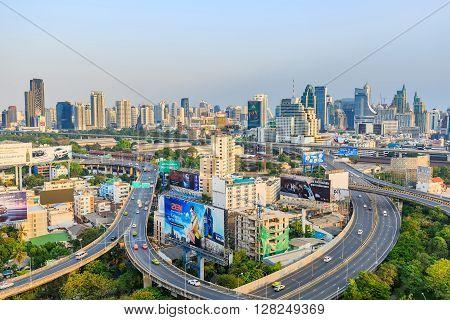 Bangkok Expressway In The Evening