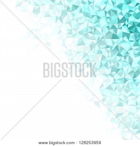 Cyan irregular triangle mosaic vector background design