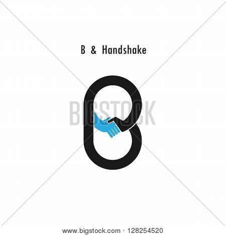 Creative B-letter icon abstract logo design vector template.Business offerpartnership icon.Corporate business and industrial logotype symbol.Vector illustration