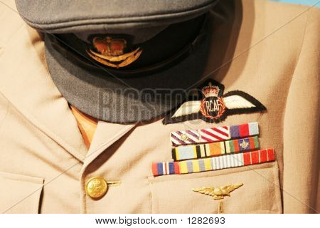 royal canadian air force uniform with hat and jacket poster