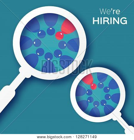 Choosing the talented person for hiring. HR job seeking concepts. The choice of the best suited employee