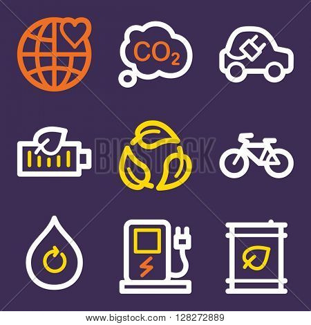 Ecology icon, green technology vector web sign. Nature icon flat. Design mobile icon, vector pictogram. Eco infographics symbols.