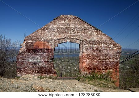 The only wall left standing at the old Powerhouse on Mount Beacon