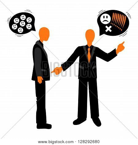 Speech etiquette in business. The quarrel between the colleagues. Business etiquette.