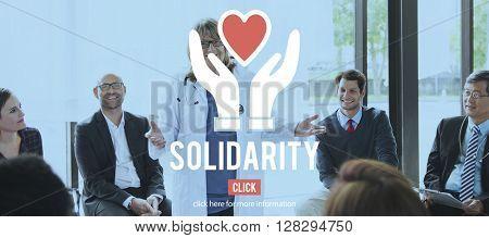 Solidarity Charity Organization Social Help Concept