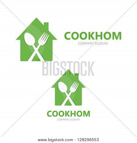 Vector bistro and cooking logo design template
