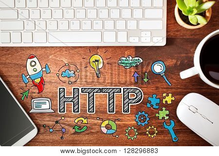 Http Concept With Workstation