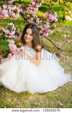 Little Girl In Pink Bloom
