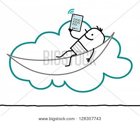 cartoon characters and cloud - leisure