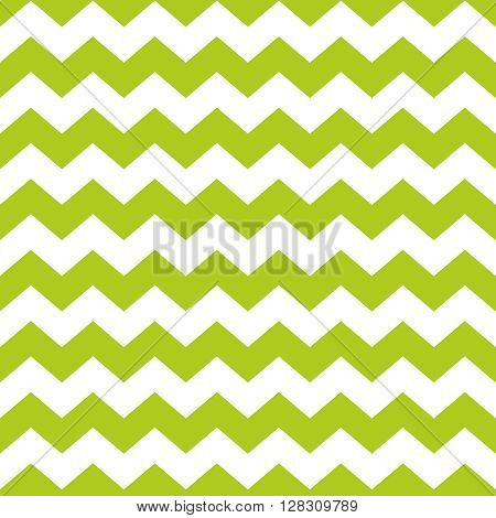 Zig zag chevron green and white tile vector pattern