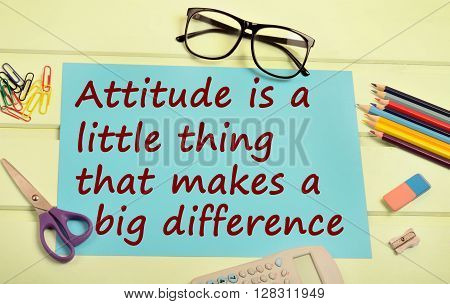 Text Attitude is a little thing that you makes a big difference on paper
