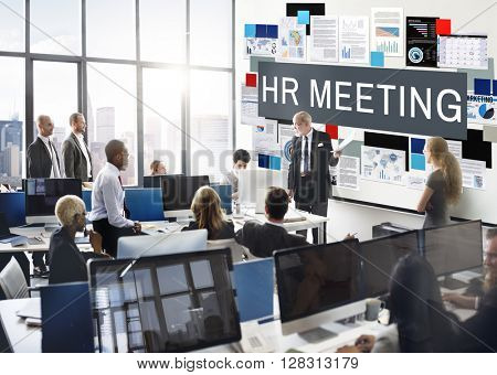 HR Meeting Convention Employment Occupation Concept poster