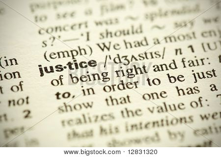 """Dictionary Definition Of The Word """"justice"""" In English"""