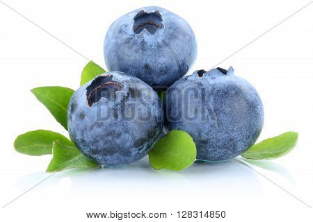 Blueberry Blueberries Berry Berries Fruit Fruits Isolated On White