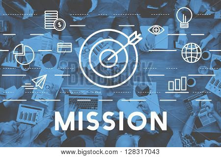 Mission Goals Aim Aspiration Concept
