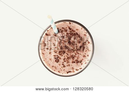 Delicious milkshake on a white background