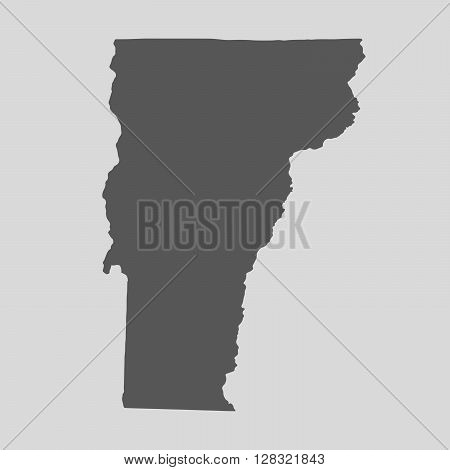 Black map of the State of Vermont - vector illustration. Simple flat map State of Vermont.