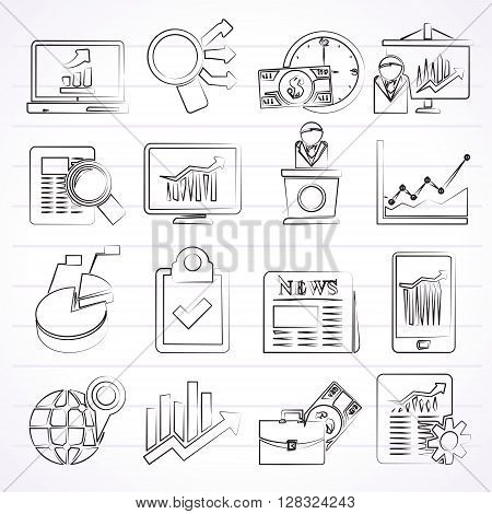 Business and Market analysis icons - vector icon set