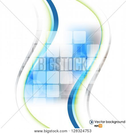 White vector wave design vector illustration