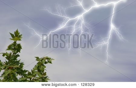 Lightening In Sky