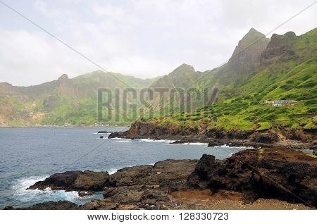 Bay Of Fajan D'agua, With Volcanic Coastline