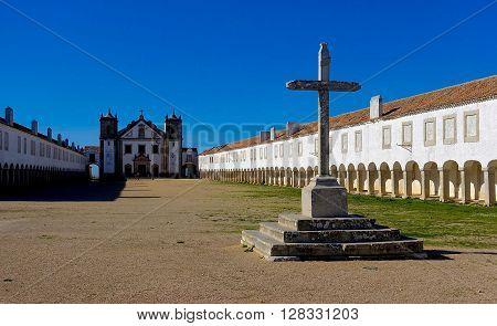 Cabo Espichel, Portugal, January 13, 2016: The pilgrimage place Santuário da Nossa Senhora do Cabo Espichel, Portugal