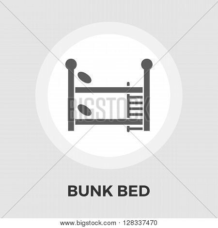 Bunk bed icon vector. Flat icon isolated on the white background. Editable EPS file. Vector illustration.
