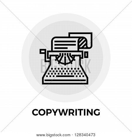Copywriting icon vector. Flat icon isolated on the white background. Editable EPS file. Vector illustration.