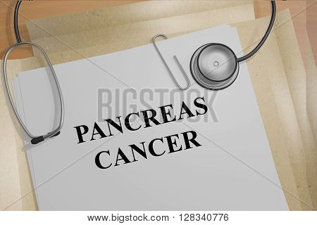 Pancreas Cancer Medicial Concept