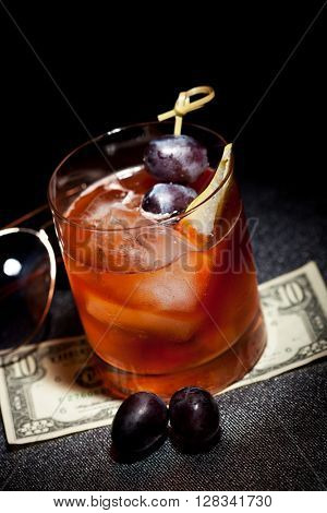 Gangsta Cocktail - Calvados with Dark Rum, Cane Sugar and Bitter