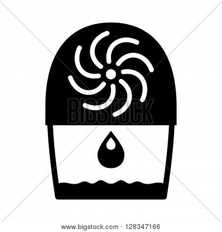 Air dehumidifier ( shade picture ) on white background