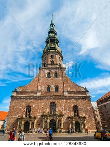 View On Old St James Cathedral In Riga