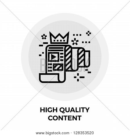 High Quality Content Icon Vector. High Quality Content Icon Flat. High Quality Content Icon Image. High Quality Content Line icon. High Quality Content Icon JPEG. High Quality Content Icon EPS.