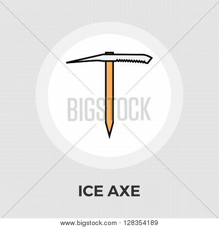 Ice axe icon vector. Flat icon isolated on the white background. Editable EPS file. Vector illustration.