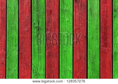 Colorful Creative Red and Green Borad Wood Background