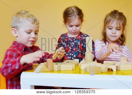 Children Playing Blocks