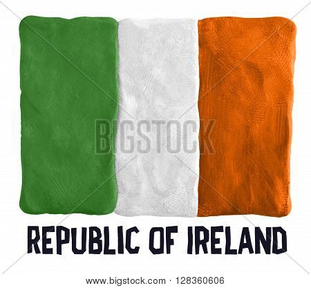 Flag of the Republic of Ireland made of plasticine