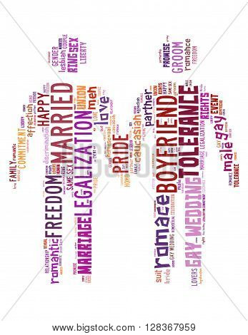 Gay Couple, Word Cloud Concept 3
