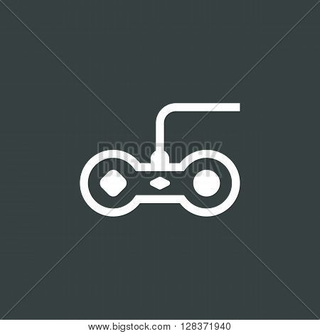 Joystick Icon In Vector Format. Premium Quality Joystick Symbol. Web Graphic Joystick Sign On Dark Background.