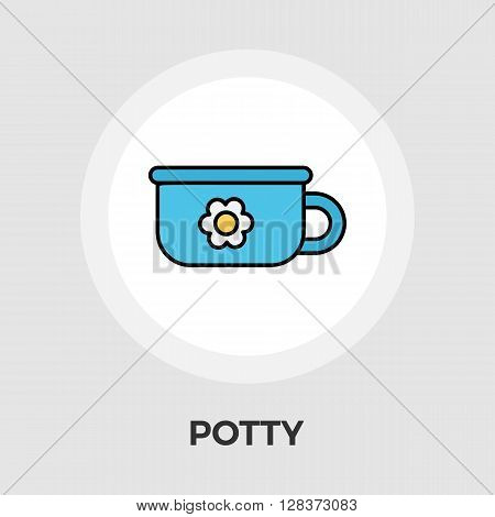 Potty icon vector. Flat icon isolated on the white background. Editable EPS file. Vector illustration.