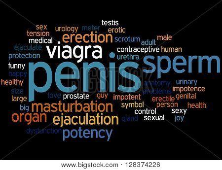 Penis, Word Cloud Concept