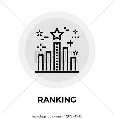 Ranking icon vector. Flat icon isolated on the white background. Editable EPS file. Vector illustration.