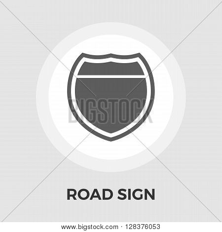Road sign icon vector. Flat icon isolated on the white background. Editable EPS file. Vector illustration.