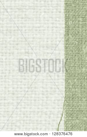 Textile weft fabric exterior moss canvas rag material retro-styled background