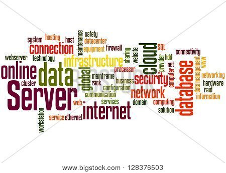 Server, Word Cloud Concept 7