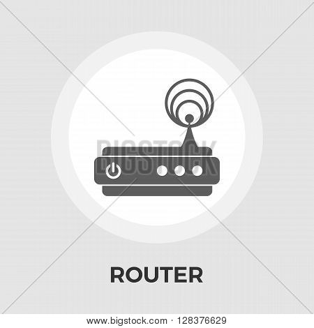 Router icon vector. Flat icon isolated on the white background. Editable EPS file. Vector illustration.