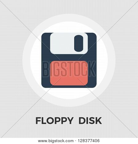 Magnetic floppy disc icon vector. Flat icon isolated on the white background. Editable EPS file. Vector illustration.
