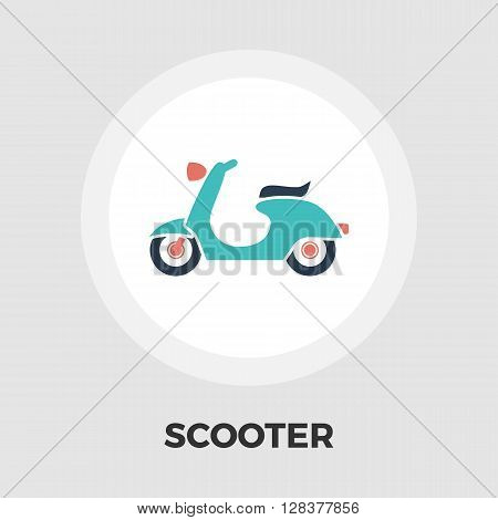 Scooter Icon Vector. Flat icon isolated on the white background. Editable EPS file. Vector illustration.